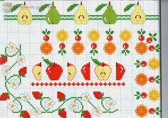 View album on Yandex. Cross Stitch Borders, Cross Stitch Flowers, Cross Stitching, Cross Stitch Patterns, Cross Stitch Kitchen, Loom Beading, Hand Embroidery, Needlework, Sewing