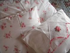Use embroidered pillow case for foldover pillow showcasing embroidery on front