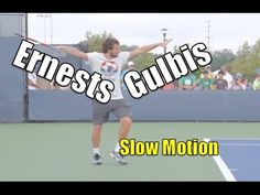 Ernests Gulbis Slow Motion - Cincinnati Masters 2014 - YouTube