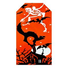 Spooky Halloween Gift Tag