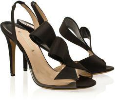 a2e41f7bbd2e Slingback 3d Satin Sandal - Lyst Ugly Shoes