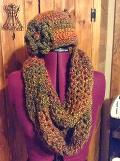 """I just love the """"homespun yarns"""" by Lion Brand. They make for warm and cozy winter wear. I decided to take my basic beanie hats and in..."""