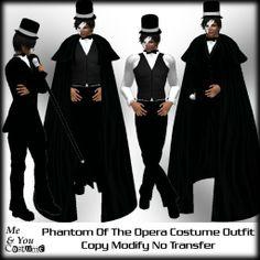 ***Me & You Costume Phantom Of The Opera Costume Outfit
