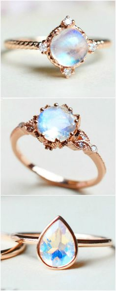 Beautiful Moonstone Engagement Rings | MichelliaDesigns on Etsy