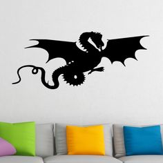 Flying Dragon Silhouette Wall Sticker 1