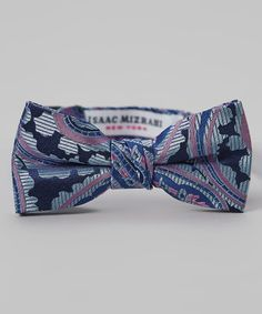 Look what I found on #zulily! Blue Paisley Silk Bow Tie by Isaac Mizrahi #zulilyfinds