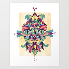 Mask Art Print by Cobrinha - $18.00