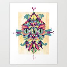 Mask Art Print by Cobrinha - $18.00