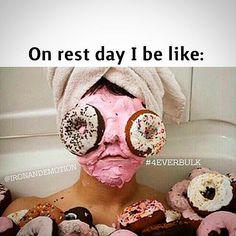 Hahahahaha oh my!!! Rest day just went to a whole new level!!