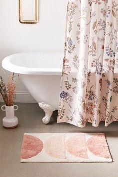 50 Cute Bath Mats That'll Freshen Up Your Bathroom and Make You Smile • Chandeliers and Champagne Blush Bathroom, Bathroom Shower Curtains, Bathroom Rugs, Master Bathroom, Zen Bathroom, Washroom, Small Bathroom, Bath Linens, Bath Rugs