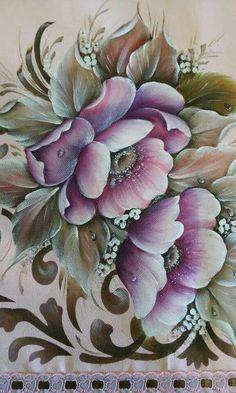 Resultado de imagen para pinterest pintura en tela manteles #pinturaentela