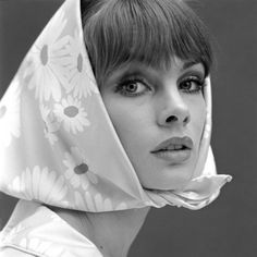 "Jean Shrimpton ~ After being discovered by fashion photographer David Bailey, Shrimpton became one of the world's first supermodels and the highest-paid model of her time. She is regarded today as the face of ""Swinging London,"" and for popularizing the miniskirt."