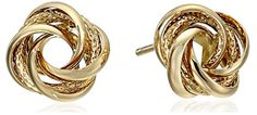 14k Yellow Gold Knot Stud Earrings Amazon Curated Collection http://www.amazon.com/dp/B00D3FKGEO/ref=cm_sw_r_pi_dp_9ClMub0D6QSN1  -  classic love knot studs.  white, yellow and rose gold.  i prefer yellow gold with these.  i wish they were classic heavy, estate earrings.     lj