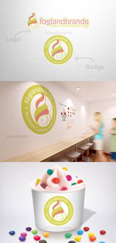 New !  Branding for Ice Cream & Frozen Yogurt for sale!  - Logo ( color variations and black / white ) + business card design ( 2 sides ) as bonus. Format files: eps, pdf, png, jpg or any other at request. Order now at: onegiraphe@gmail.com #icecream #frozenyogurt #design #sale #logostore #stocklogos #logopond #behance #brand #identity #brandidentity #graphic #graphicdesign #designer