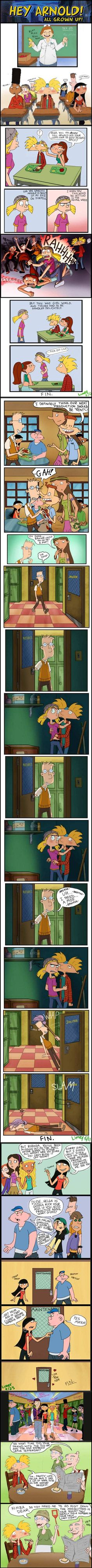 I think I already pinned this , but it's just too good. Hey Arnold all grown up (sorta)