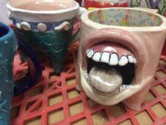 High School Tripod Mugs Ceramic Project