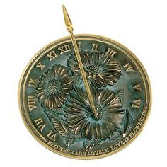Rome 2302 Flowers Sundial, Solid Brass With Verdigris Highlights, 10-Inch Diameter, 2015 Amazon Top Rated Sundials #Lawn&Patio
