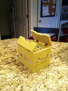Recipe box made to fit oversized index card separators with knife and fork drawer handles.