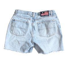 Vintage 90s Polo Jeans Company Ralph Lauren Cut Off Denim Shorts Women M by bluebutterflyvintage on Etsy