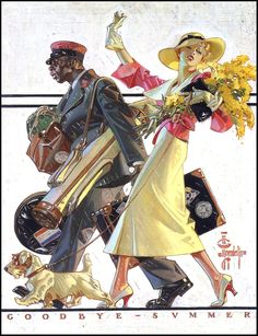 1934 Goodbye Summer - used as a Saturday Evening Post cover