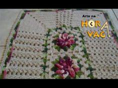 Como executar o tapete em crochê Jardim de Rosas parte 2 - YouTube