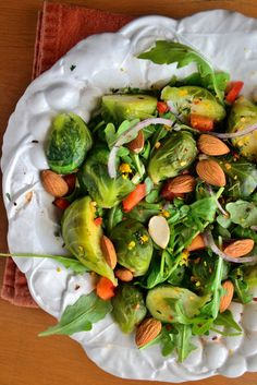 Recipe Idea: Balsamic Brussels Sprout and Arugula Salad
