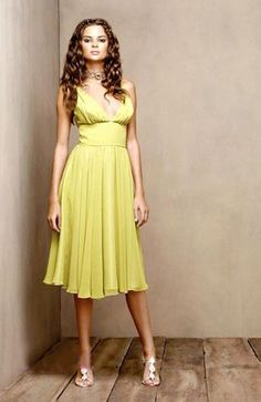 Knee-length Sleeveless A-line Greens Cocktail Dresses
