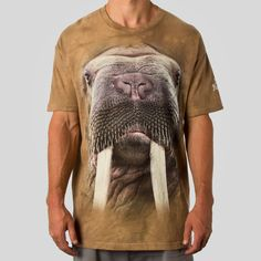 """the mountain x upper playground - The Mountain """"Walrus Face"""" T-Shirt"""