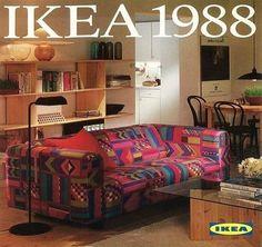 IKEA Catalog Cover.  Klippan Sofa. 1988  @neontalk