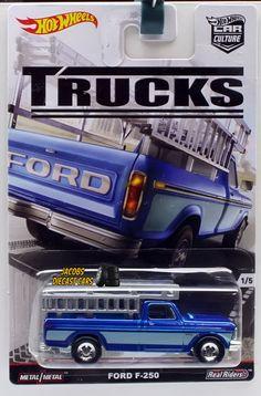 1:64 HOT WHEELS CAR CULTURE TRUCKS SERIES - FORD F-250 PICKUP TRUCK #HotWheels #Ford