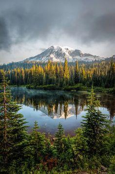 Mount Rainier National Park, Washington l Photo by Darren Neupert Parc National, National Parks, Grand Teton National, Places Around The World, Around The Worlds, Beautiful World, Beautiful Places, Landscape Photography, Nature Photography
