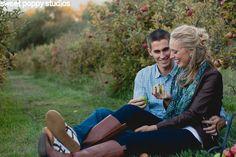 Apple picking engagement photos - Sweet Poppy Studios