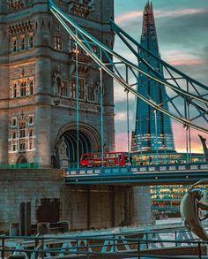 The Tower Bridge & The Shard, London.-