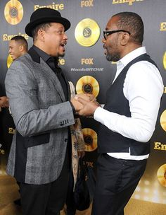 """Empire Show Premiere, Terrence Howard talks with Director/Creator of """"Empire,"""" TV series, Lee Daniels, which is featured weekly on Fox Network."""