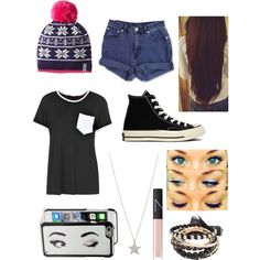 Untitled #731 by beau-4-ever on Polyvore featuring polyvore, fashion, style, Boohoo, Jag, Converse, Finn, Kate Spade, Kavu and NARS Cosmetics