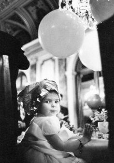 misshonoriaglossop:  Little Princess Caroline of Monaco getting her hair done