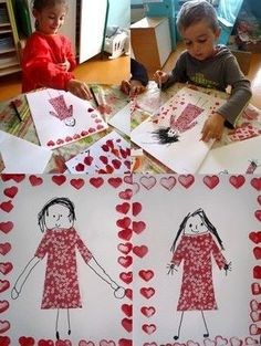 Fathers Day Crafts, Valentine Day Crafts, Valentines, Mother's Day Theme, Diy And Crafts, Crafts For Kids, Kindergarten Art Projects, Craft Bags, Mom Day