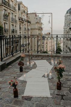 Home Decor Kmart Minimal ceremony decor set amidst Paris Paris Elopement, Paris Wedding, Elope Wedding, Destination Wedding, Wedding Planning, Elopement Wedding, Diy Wedding Decorations, Ceremony Decorations, Earthy Decor