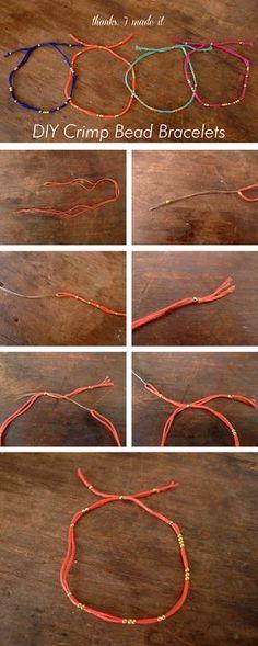 Thanks, I Made It : DIY Crimp Bead Bracelet