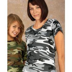 b73687168f87 Code V Ladies' Fine Jersey Camouflage T-Shirt Camouflage T Shirts, Golf  Shirts