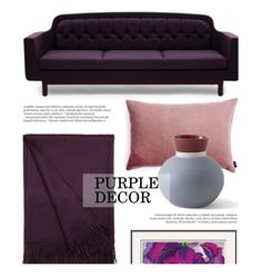 """""""Purple Decor"""" by lovethesign-shop ❤ liked on Polyvore featuring interior, interiors, interior design, home, home decor, interior decorating, Normann Copenhagen, Balmain, purple and Home"""