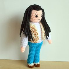 Make your way through the Labyrinth to take back your baby brother from the Goblin King with this crochet pattern of Sarah.