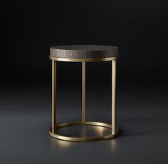 Nicholas Oak Round Side Table