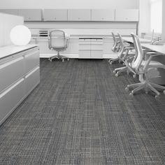 Interface carpet tile: Pleatwork Color: Pucker 2312-006-000 Installation method: Ashlar Room scene: Open Office