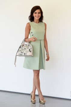 Camile Belle s Mod-inspired Gucci dress   floral Gucci bag is the ideal  look for everything from a garden wedding to a bridal shower 8a0b31ca3