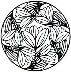 cut paper design Tulip Circle