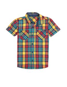 Pure Cotton Multi-Checked Shirt (1-7 Years) | M&S