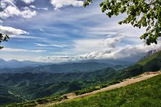 a hiking paradise.  sibillini mounts, marche, italy- the region my grandmother is from.  i love the vibrant layers and depth