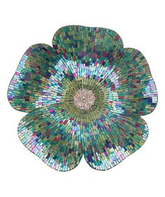 Look at this #zulilyfind! Blue Mosaic Glass Flower Wall Décor by River of Goods #zulilyfinds