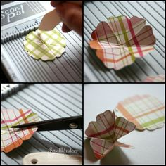 How to make a flower for a card...